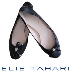 Elie Tahari Leather Janna driving flats